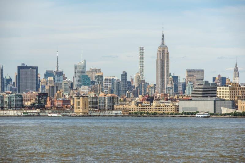 Horizon de Midtown de Manhattan, New York City, Etats-Unis photographie stock libre de droits
