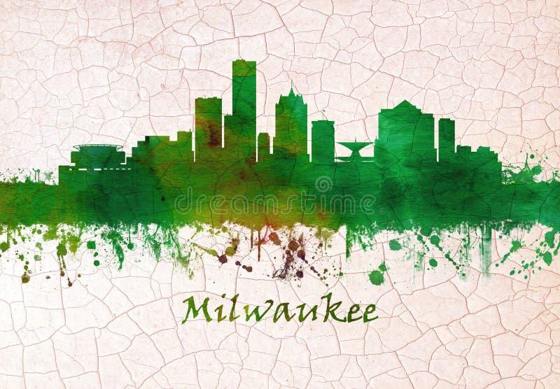 Horizon de Milwaukee le Wisconsin illustration de vecteur
