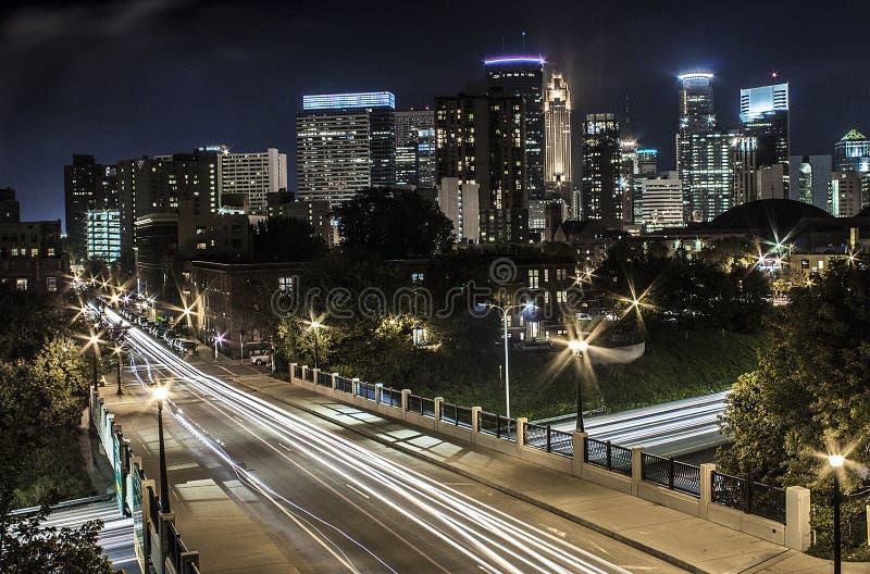 Horizon de Minneapolis photographie stock libre de droits