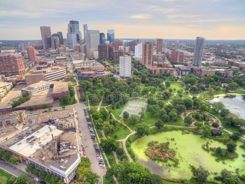 Horizon de Minneapolis au Minnesota, Etats-Unis image libre de droits