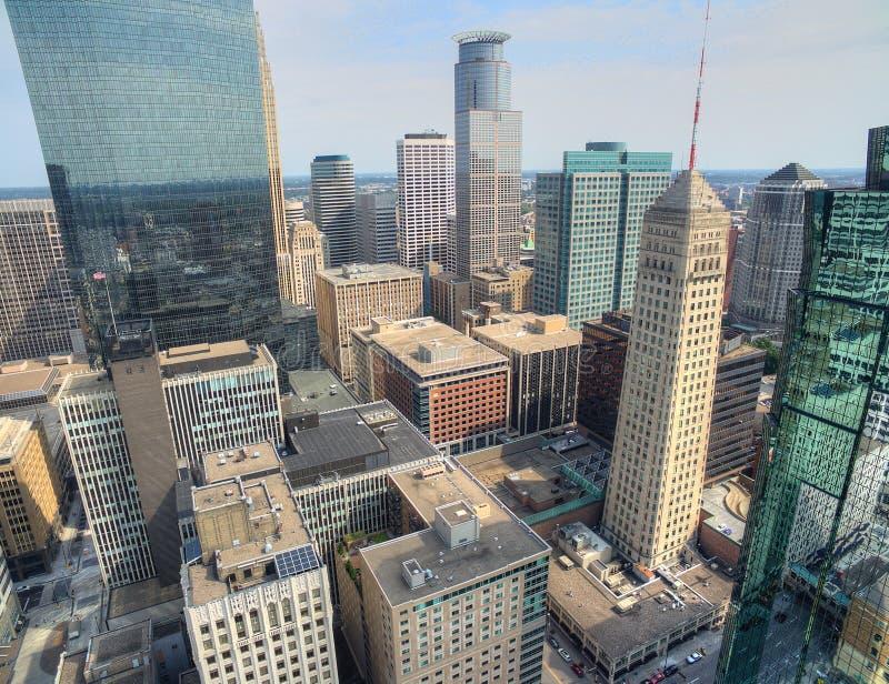 Horizon de Minneapolis au Minnesota, Etats-Unis images libres de droits