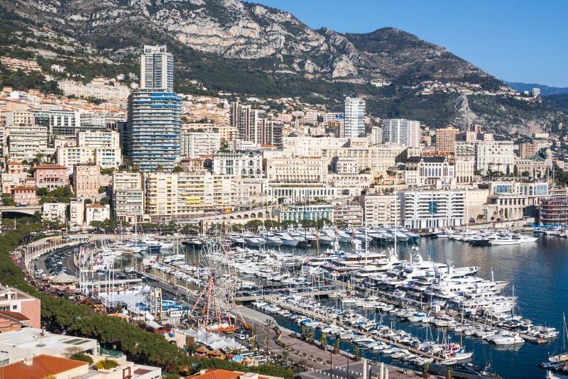 Horizon de Monte Carlo, la Côte d'Azur photographie stock libre de droits