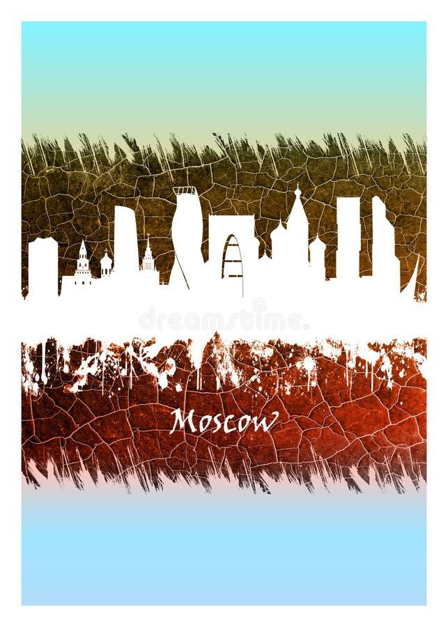 Horizon de Moscou bleu et blanc illustration libre de droits
