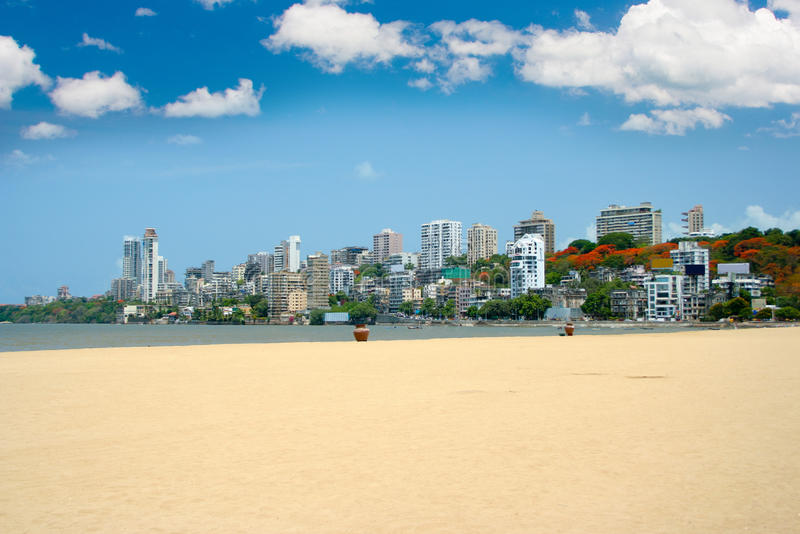 Horizon de Mumbai images libres de droits