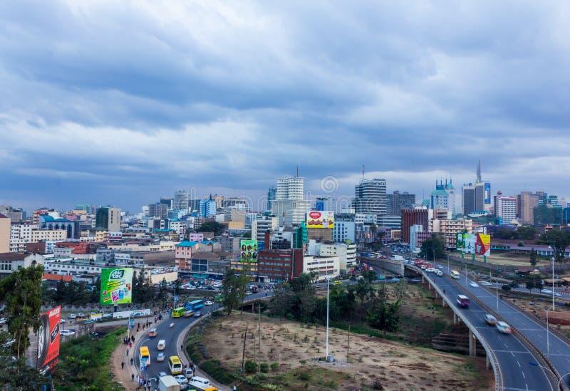 Horizon de Nairobi image stock