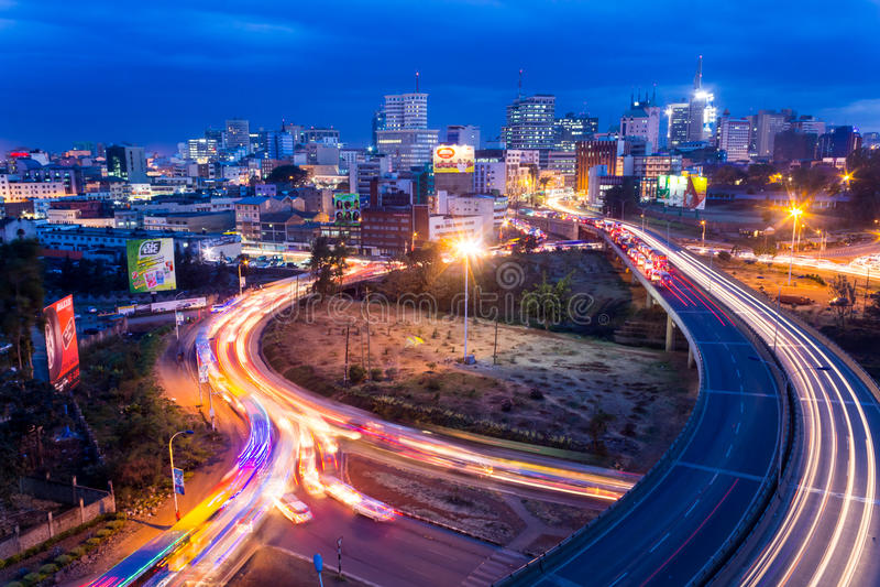 Horizon de Nairobi photo stock