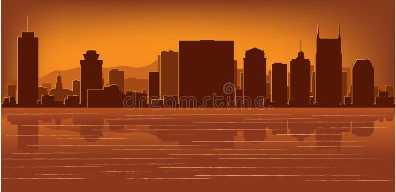 Horizon de Nashville, Tennessee illustration libre de droits