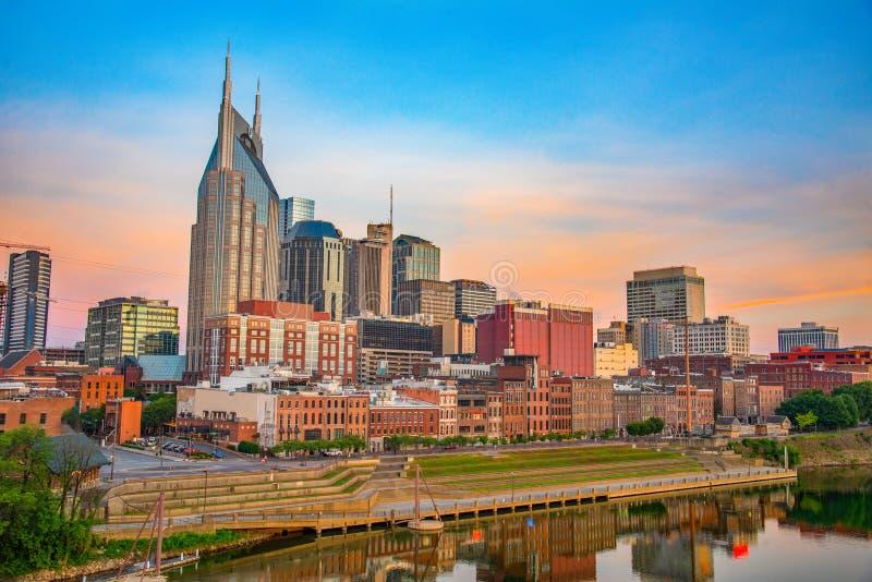 Horizon de Nashville Tennessee TN images libres de droits