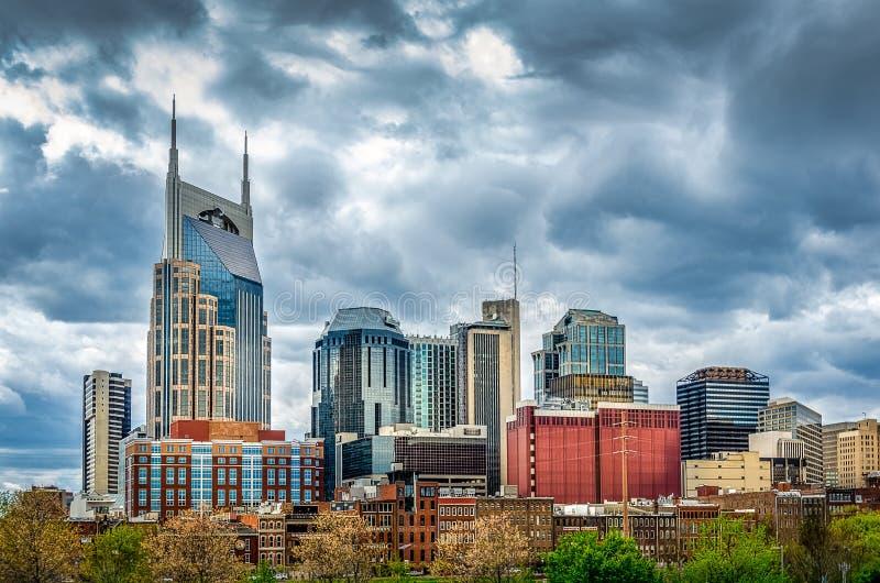 Horizon de Nashville un jour nuageux photos libres de droits
