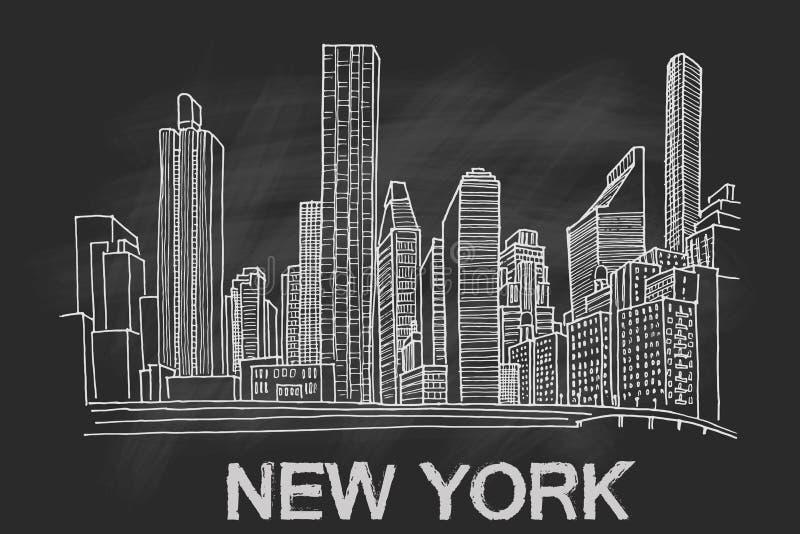 Horizon de New York illustration de vecteur