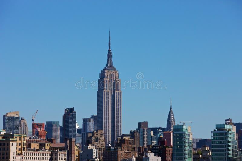 Horizon de New York avec l'Empire State Building images libres de droits