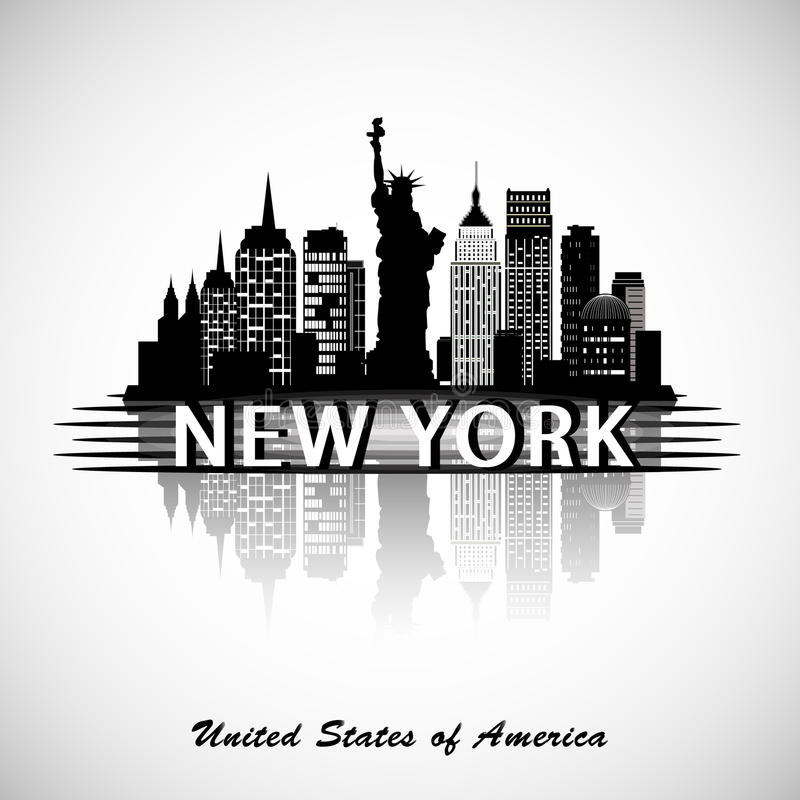 Horizon de New York City illustration libre de droits