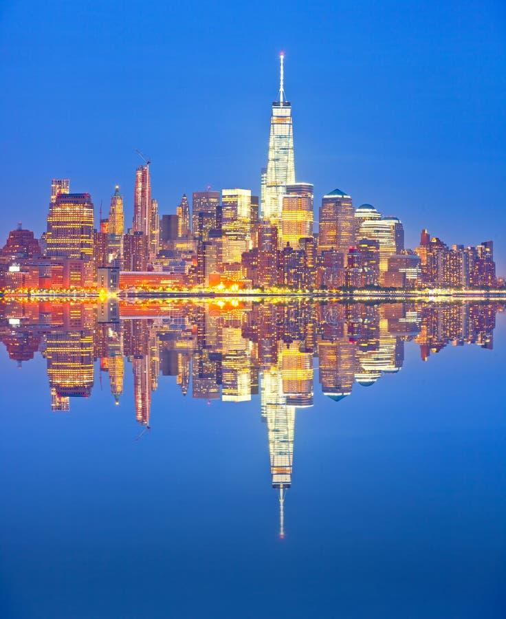Horizon de New York City photographie stock libre de droits