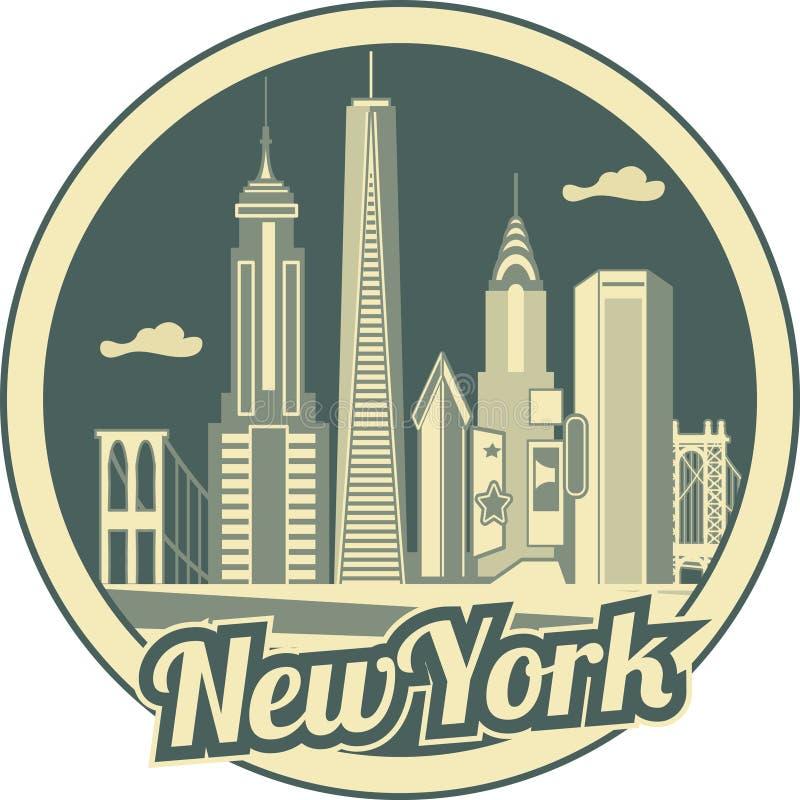 Horizon de New York City illustration libre de droits