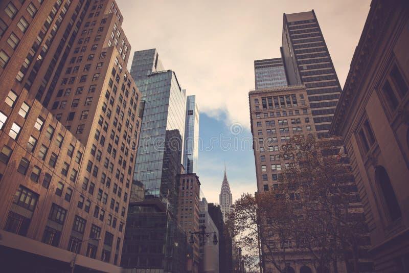 Horizon de New York City Manhattan, U S a image stock