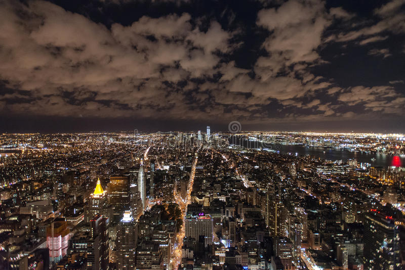 Horizon de New York d'Empire State Building photos libres de droits