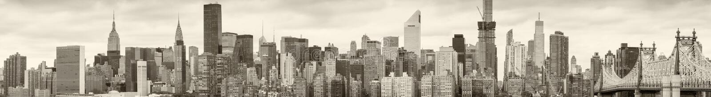 Horizon de New York noir et blanc photo stock
