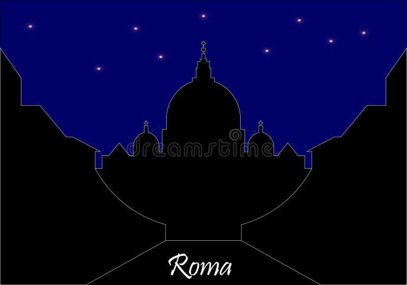 Horizon de nuit de Rome image libre de droits