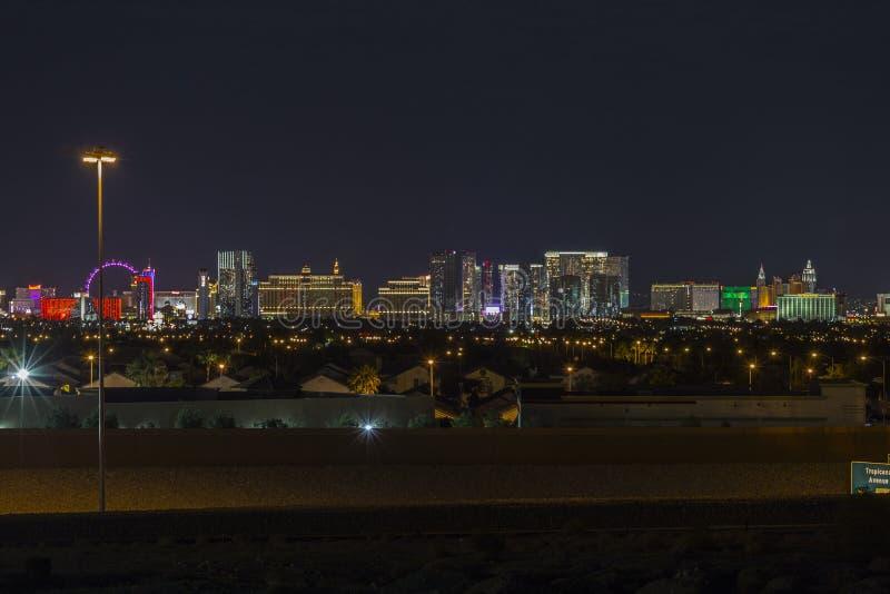 Horizon de nuit de Las Vegas photo stock