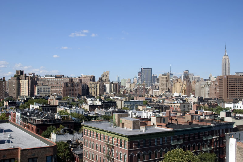 Horizon de NYC photographie stock libre de droits