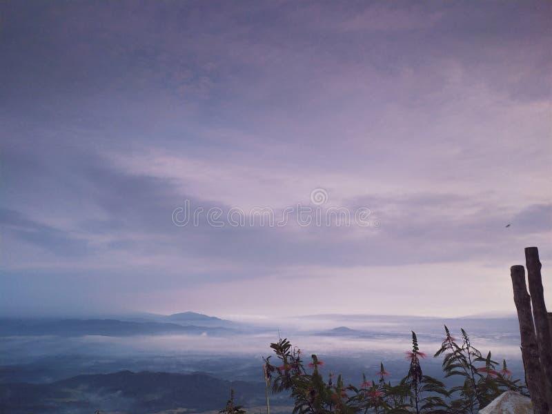Horizon in de ochtend royalty-vrije stock afbeeldingen