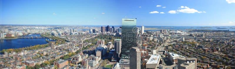 horizon de panorama de Boston photographie stock