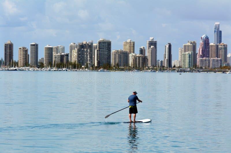 Horizon de paradis de surfers - Australie de la Gold Coast Queensland images libres de droits