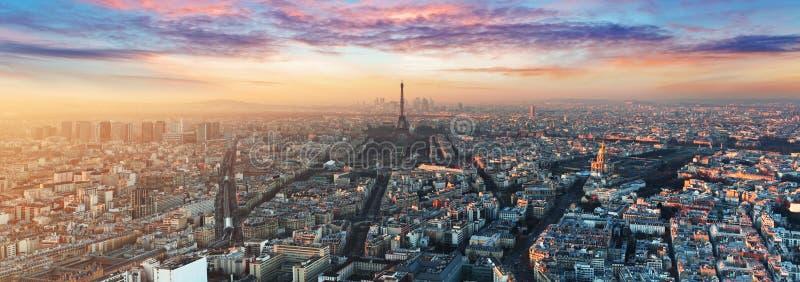 Horizon de Paris - panorama photographie stock