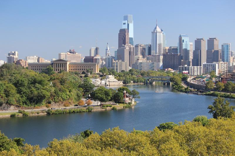 horizon de Philadelphie image libre de droits