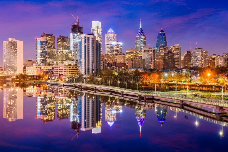 Horizon de Philadelphie, Pennsylvanie photos libres de droits