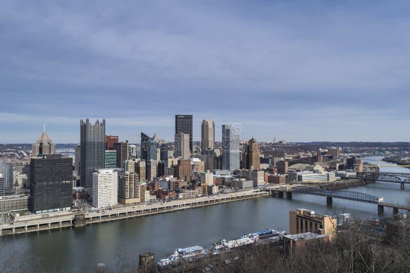 Horizon de Pittsburgh image libre de droits
