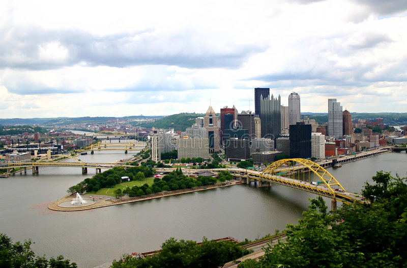Horizon de Pittsburgh image libre de droits