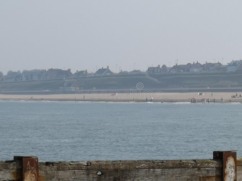 Horizon de plage de Gorleston photographie stock
