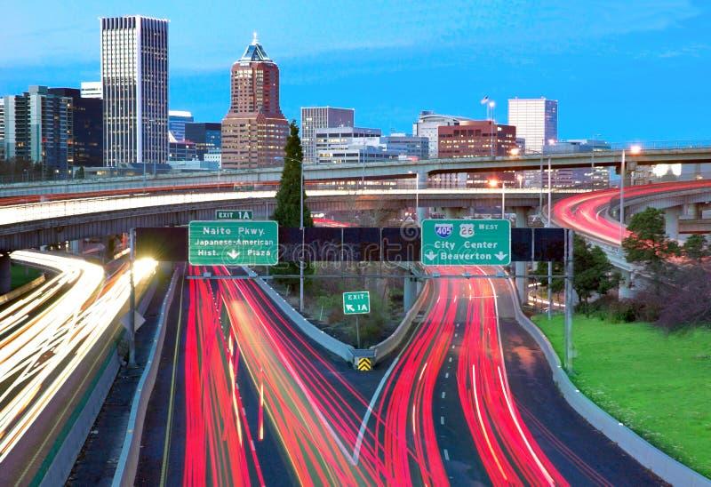Horizon de Portland photographie stock libre de droits