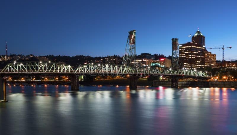 Horizon de Portland photographie stock