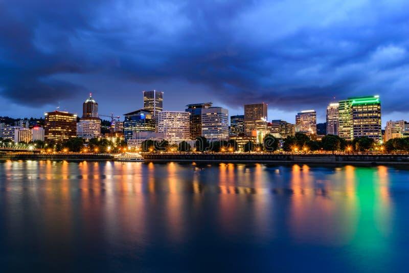 Horizon de Portland au crépuscule photos libres de droits
