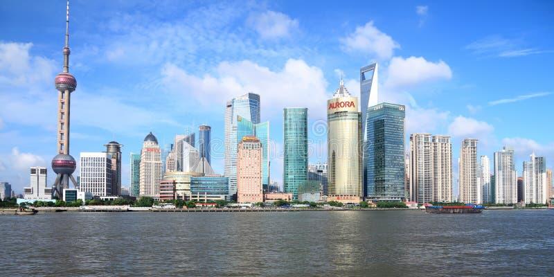 Horizon de Pudong, Changhaï photographie stock libre de droits