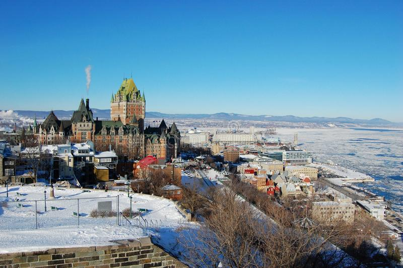 Horizon de Quebec City photos stock