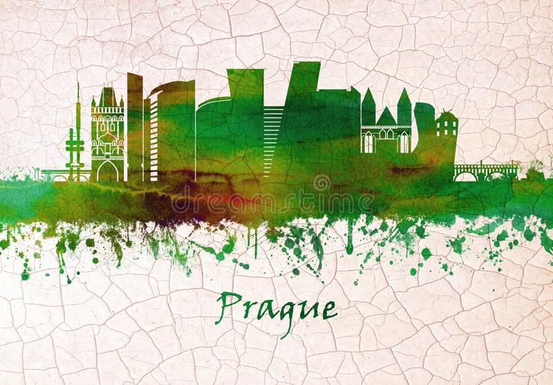 Horizon de République Tchèque de Prague illustration libre de droits