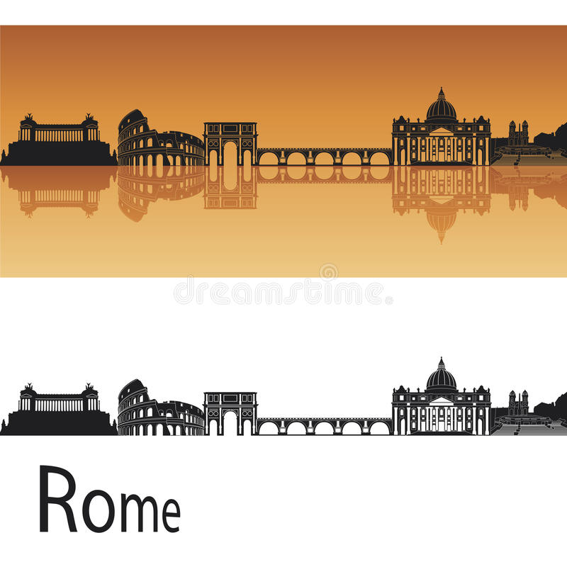 Horizon de Rome illustration stock
