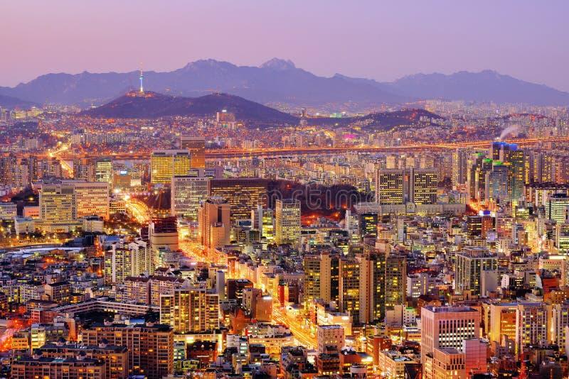 Horizon de Séoul image libre de droits