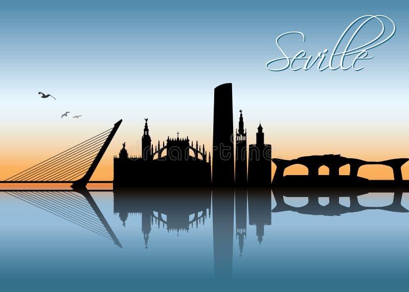 Horizon de Séville - Espagne - illustration de vecteur illustration de vecteur