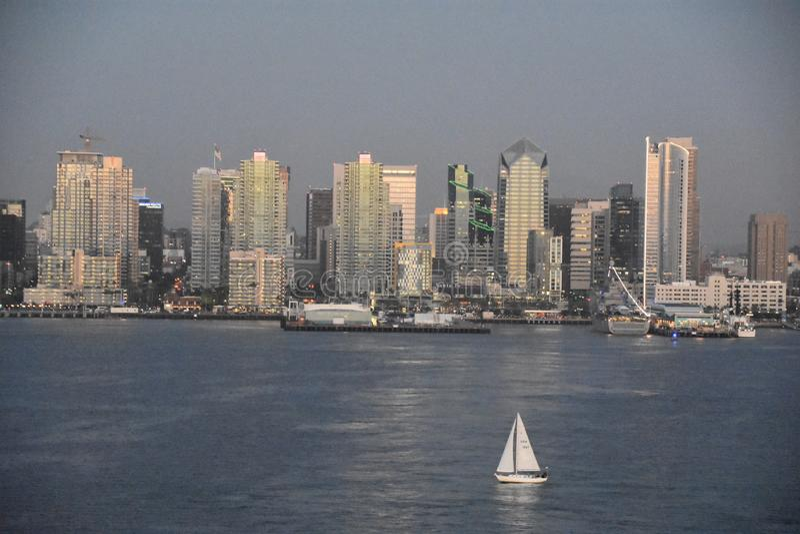 Horizon de San Diego en Californie photographie stock libre de droits