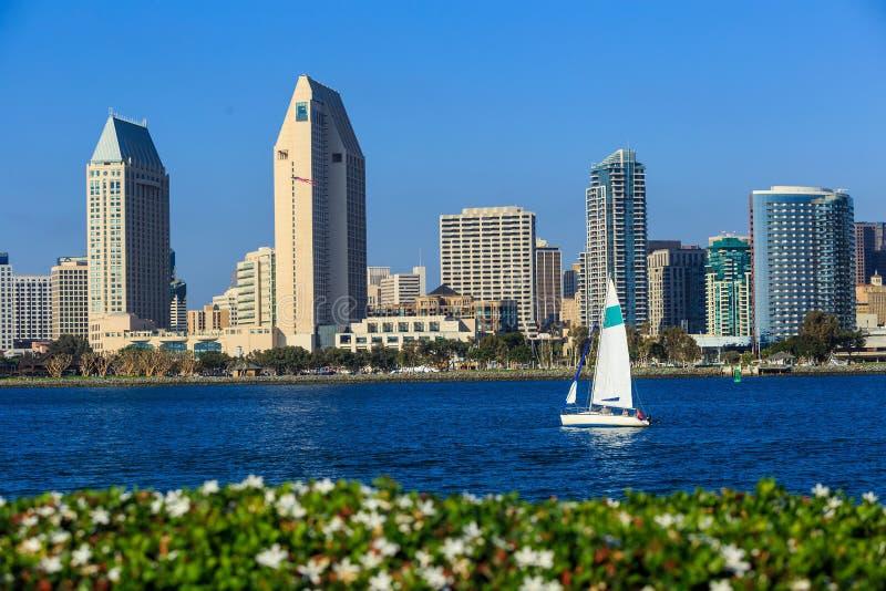 Horizon de San Diego, la Californie de la baie de Coronado photos stock