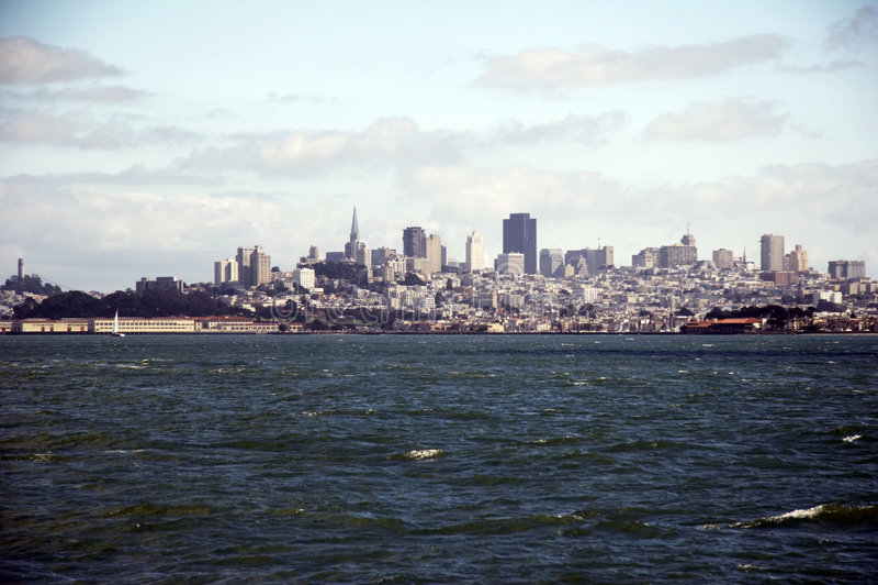 Horizon de San Francisco, la Californie, Etats-Unis image libre de droits