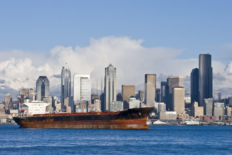 Horizon de Seattle photo stock
