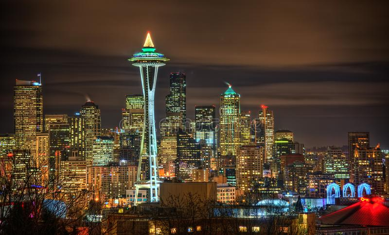 Horizon de Seattle, Etats-Unis image libre de droits