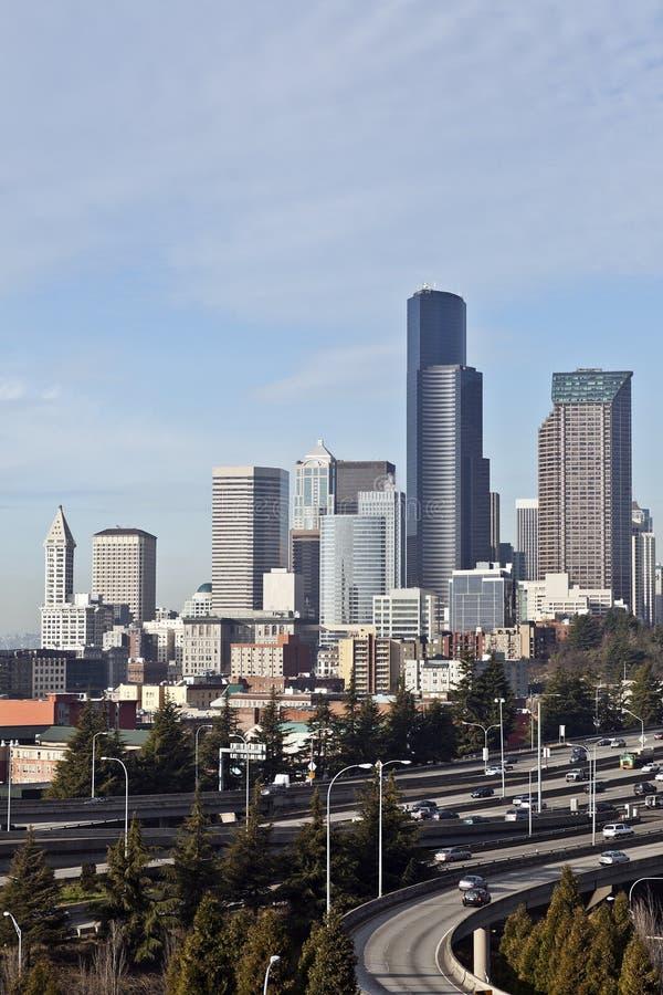Horizon de Seattle, Washington, Etats-Unis photo libre de droits