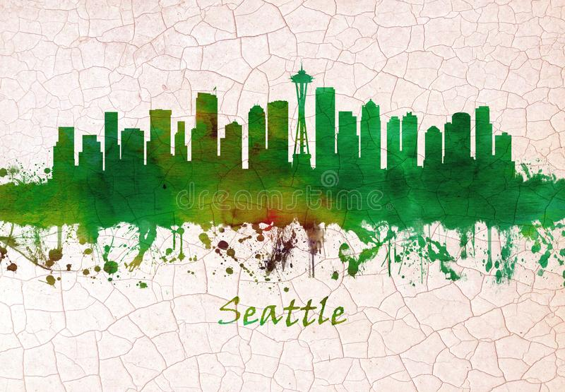 Horizon de Seattle Washington illustration stock