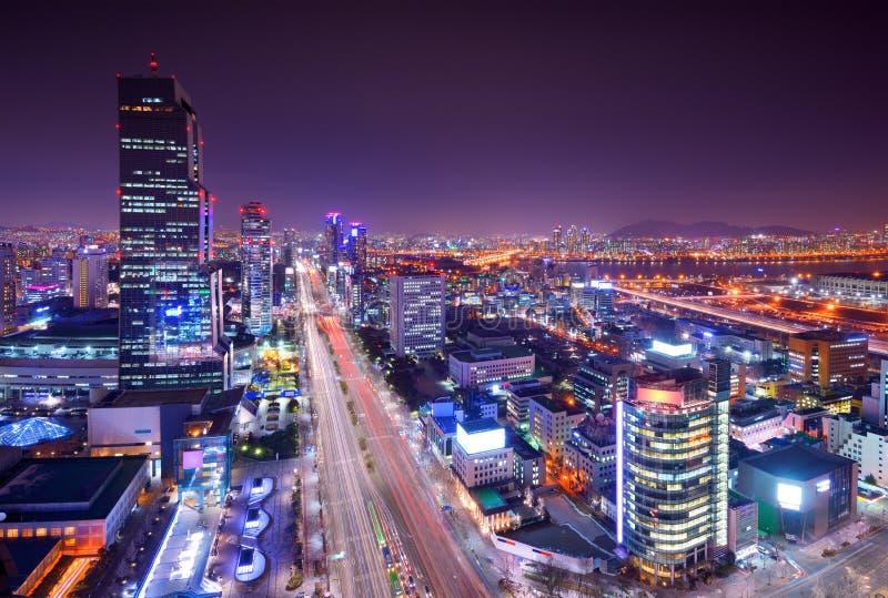 Horizon de secteur de Séoul Gangnam photos stock